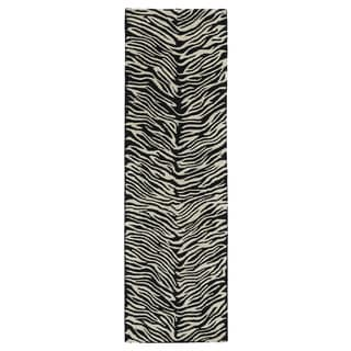Hand-tufted Lawrence Zebra Wool Rug (2'3 x 7'6)