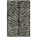 Hand-tufted Lawrence Zebra Wool Rug (2'0 x 3'0)