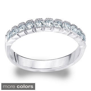 14K Gold 2ct TDW 11-Stone Machine-set Diamond Eternity Wedding Band (H-I, I1-I2)