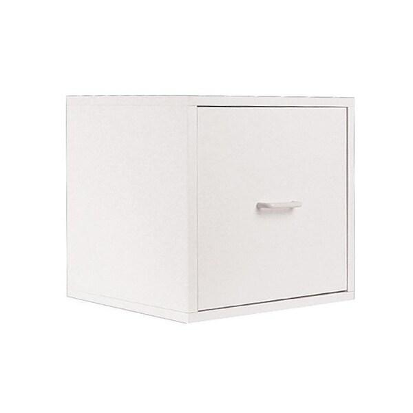 Organize It All White Storage Open Drawer Cube