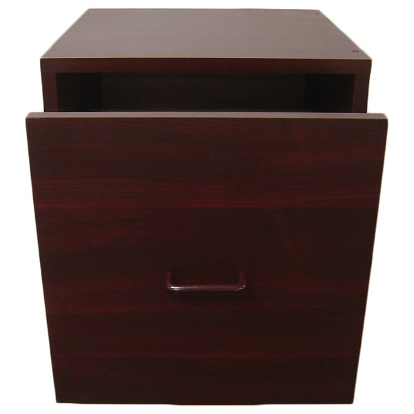Organize It All Cherry Open Drawer Storage Cube