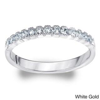 Amore 14k White or Yellow Gold 1/4ct TDW Diamond Wedding Band (H-I, I1-I2)
