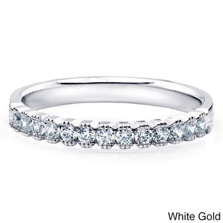 14k Gold 1/4ct TDW Machine-set Milgrain Diamond Band (H-I, I1-I2)