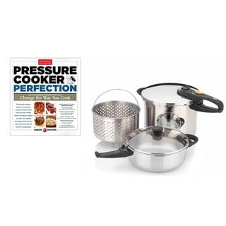 Fagor Duo Combi 5-piece Pressure Cooker Set with Bonus 'Pressure Cooker Perfection' Cookbook