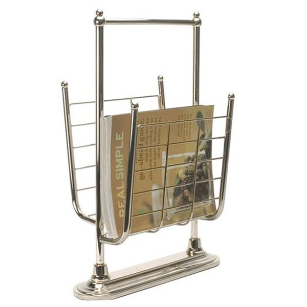 Organize It All Gold Free-standing Magazine Rack
