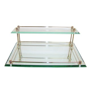 Mirrored 13K Gold Finish Vanity Tray
