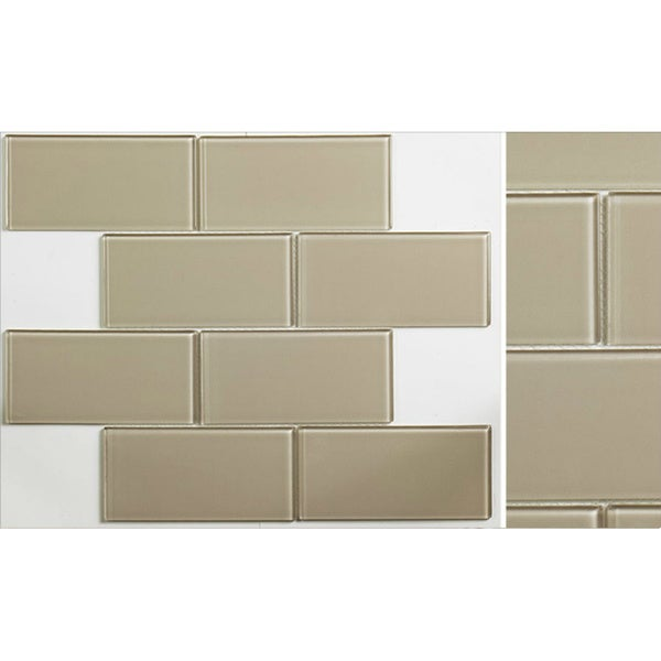 Martini Mosaic 14.75x11.75 Blocco Warm Gray Tile (Pack of 10)