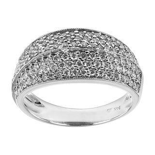 14k White Gold 4/5ct TDW Pave Diamond Ring