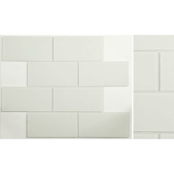 Martini Mosaic 14.75x11.75 Blocco Crystal Ice Frosted Tile (Pack of 10)