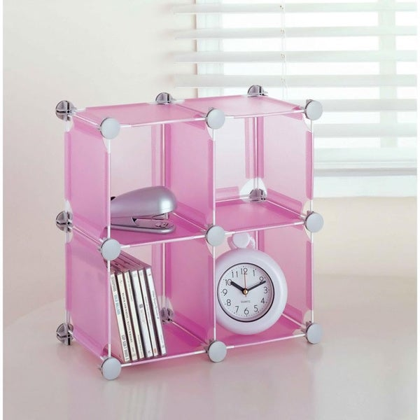 Small Pink Storage Cube