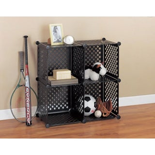 Perforated Black Storage Cube