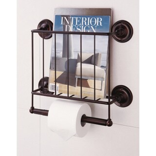 Estate Oil Rubbed Bronze Finish Magazine Rack/ Toilet Paper Holder