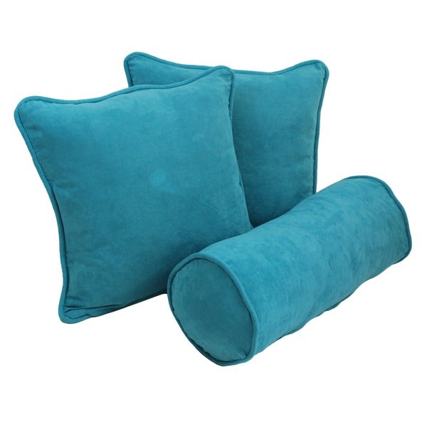 Blue Microsuede Throw Pillows : Microsuede Throw Pillows (Set of 3) - Overstock Shopping - Great Deals on Blazing Needles Throw ...