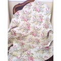Pretty Peony Quilted Throw