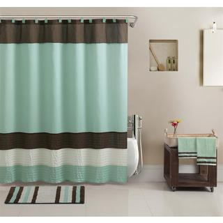 Regatta Shower Curtain, Towel and Bath Accessory 17-piece Set
