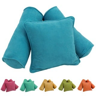 Blazing Needles Tropical Microsuede Pillows (Set of 3)