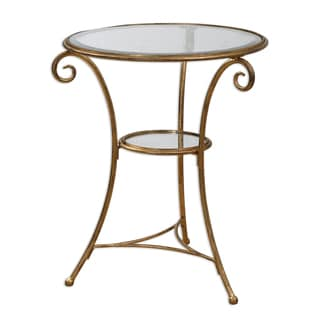Maia Gold Leaf Accent Table
