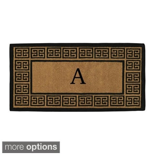 "'The Grecian' Extra-thick Monogrammed Doormat (36"" x 72"")"