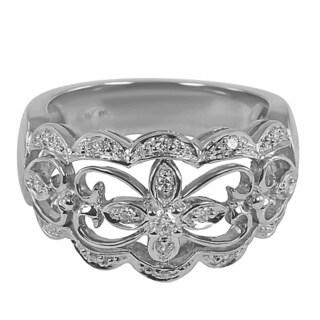 14k White Gold 1/5ct TDW Open Design Diamond Ring (H-I, I1-I2)