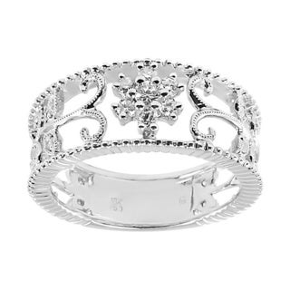 18k White Gold 1/3ct TDW Open Design Diamond Band (G-H, I1-I2)