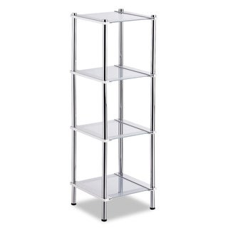 Contas 4-tier Chrome Finish Shelf