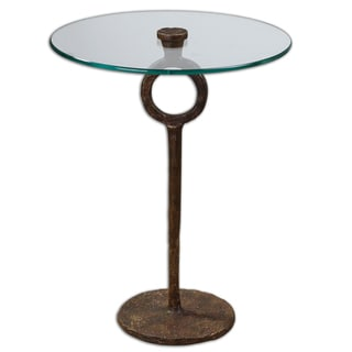 Diogo Cast Iron/ Glass Side Table