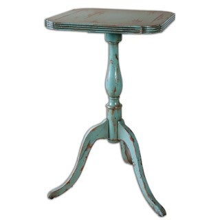 Vaient Robin's Egg Blue Square End Table