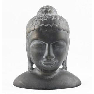 Timbergirl Handcrafted Ceramic Buddha Head Statue (India)