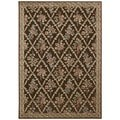 Kathy Ireland Home Villa Retreat Chocolate Rug (5'3 x 7'5)
