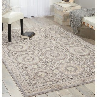 Kathy Ireland Home Villa Retreat Slate Rug (7'9 x 10'10)