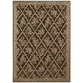 kathy ireland Home Villa Retreat Transitional Chocolate Rug (2'3 x 3'9)