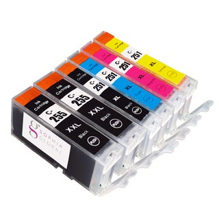Sophia Global Compatible Ink Cartridge Replacements for PGI-255XXL and CLI-251XL (Pack of 6)