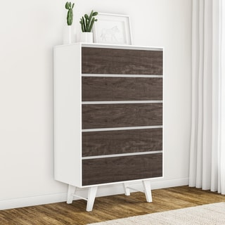 Madrid Light Charcoal 5-drawer Chest