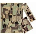 Nourison Patchwork Collection Beige 3-piece Rug Set (2'2 x 7'3) (3'11 x 5'3) (7'10 x 10'6)