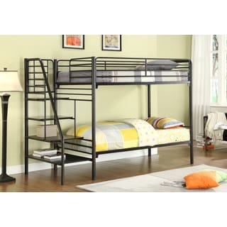 Twin Metal Stairway Bunk Bed