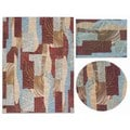 Nourison Shaded Shapes Collection Brown 3-piece Rug Set (3'11 x 5'3) (5'3 x 5'3 Round) (5'3 x 7'3)
