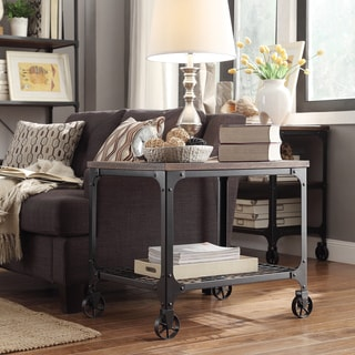 Nelson Rectangle Industrial Modern Rustic End Table