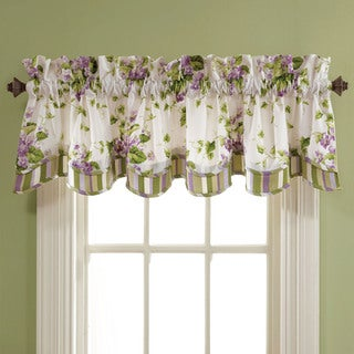 Waverly Sweet Violets Lined Window Valance
