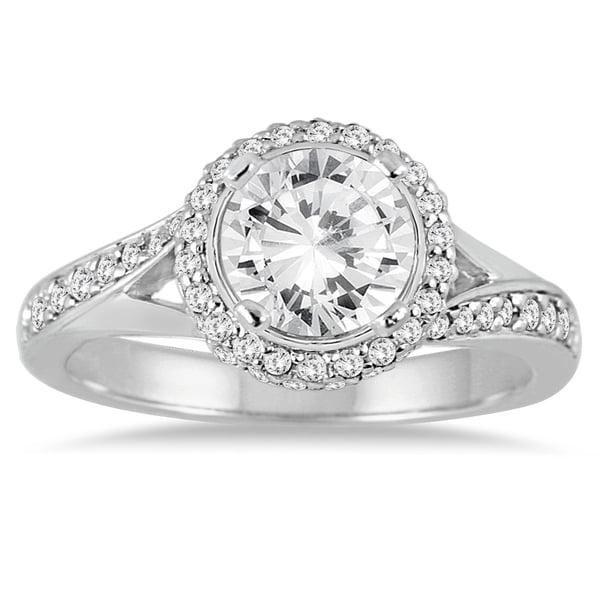 14K White Gold 1 1/2ct TDW Diamond Twist Ring (I-J,I2-I3)
