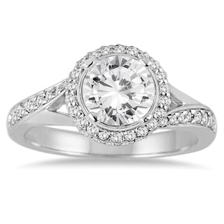 14K White Gold 1 1/2ct TDW Round Bypass Diamond Ring (I-J,I2-I3)
