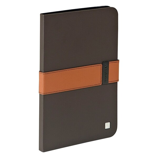 Verbatim Folio Signature Case for iPad mini (1,2,3) - Mocha/Tan