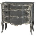 Hand Painted Distressed Grey Finish Accent Chest