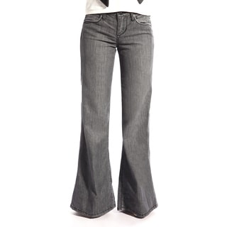 Stitch's Women's Grey Wide Leg Jeans