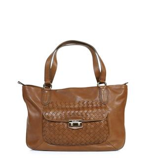 Cole Haan 'Victoria' DK Woodbury Pebbled Leather Zip-top Tote