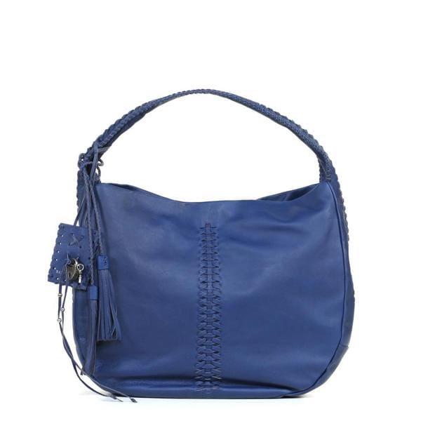 Ralph Lauren Royal Blue Laced Leather Hobo Bag