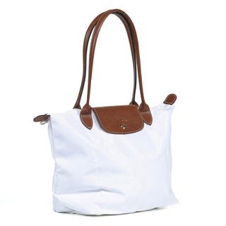 Longchamp 'Le Pliage' Medium White Tote