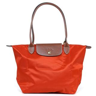 Longchamp 'Le Pliage' Medium Paprika Tote