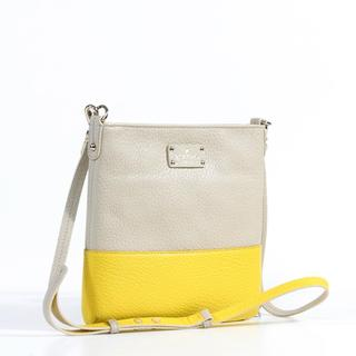 Kate Spade 'Grove Court Cora' Yellow and Brown Leather Crossbody