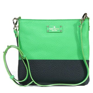 Kate Spade 'Grove Court Cora' Shamrock and Truenavy Leather Crossbody