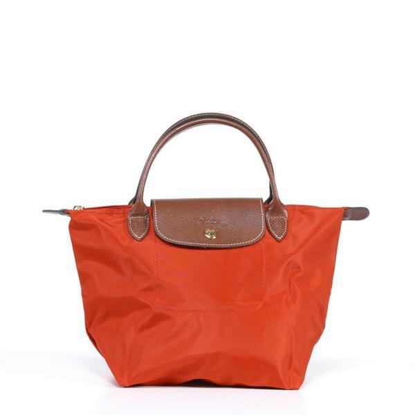 Longchamp 'Le Pliage' Small Paprika Handbag